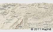 Shaded Relief Panoramic Map of Bokeo