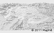 Silver Style Panoramic Map of Bokeo
