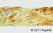 Physical Panoramic Map of Ton Pheung