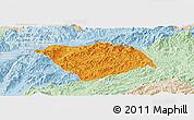 Political Panoramic Map of Ton Pheung, lighten