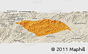 Political Panoramic Map of Ton Pheung, shaded relief outside