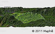 Satellite Panoramic Map of Ton Pheung, darken
