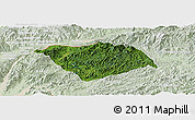 Satellite Panoramic Map of Ton Pheung, lighten