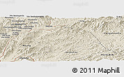 Shaded Relief Panoramic Map of Ton Pheung