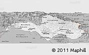 Gray Panoramic Map of Bolikhamsai