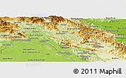 Physical Panoramic Map of Bolikhamsai