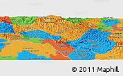 Political Panoramic Map of Bolikhamsai
