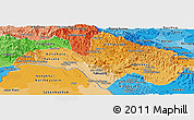 Political Shades Panoramic Map of Bolikhamsai