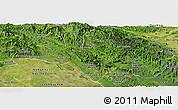 Satellite Panoramic Map of Bolikhamsai