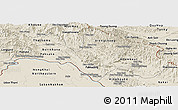 Shaded Relief Panoramic Map of Bolikhamsai