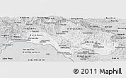 Silver Style Panoramic Map of Bolikhamsai