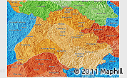 Political Shades 3D Map of Houaphanh