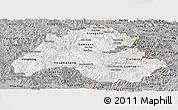 Gray Panoramic Map of Houaphanh