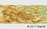 Physical Panoramic Map of Houaphanh