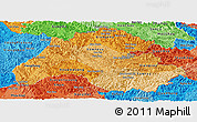 Political Shades Panoramic Map of Houaphanh