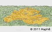 Savanna Style Panoramic Map of Houaphanh