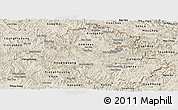 Shaded Relief Panoramic Map of Houaphanh
