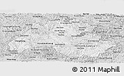Silver Style Panoramic Map of Houaphanh