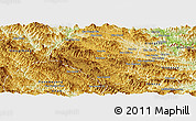 Physical Panoramic Map of Samneua