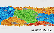 Political Panoramic Map of Samneua