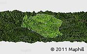 Satellite Panoramic Map of Samneua, darken
