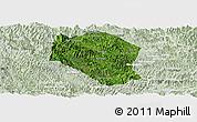 Satellite Panoramic Map of Samneua, lighten