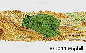 Satellite Panoramic Map of Samneua, physical outside
