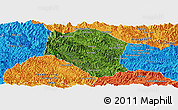 Satellite Panoramic Map of Samneua, political outside
