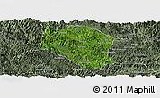 Satellite Panoramic Map of Samneua, semi-desaturated