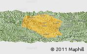 Savanna Style Panoramic Map of Samneua
