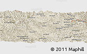 Shaded Relief Panoramic Map of Samneua