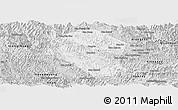Silver Style Panoramic Map of Samneua