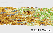 Physical Panoramic Map of Viengxay