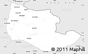 Silver Style Simple Map of Viengxay