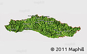 Satellite Panoramic Map of Xiengkho, cropped outside