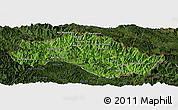 Satellite Panoramic Map of Xiengkho, darken