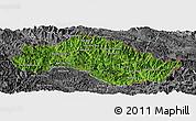 Satellite Panoramic Map of Xiengkho, desaturated