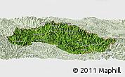 Satellite Panoramic Map of Xiengkho, lighten