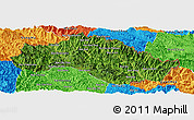 Satellite Panoramic Map of Xiengkho, political outside