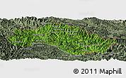 Satellite Panoramic Map of Xiengkho, semi-desaturated