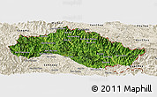 Satellite Panoramic Map of Xiengkho, shaded relief outside