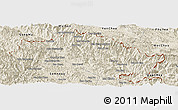 Shaded Relief Panoramic Map of Xiengkho