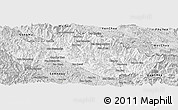 Silver Style Panoramic Map of Xiengkho