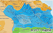 Political Shades 3D Map of Khammouane