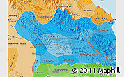 Political Shades Map of Khammouane