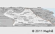 Gray Panoramic Map of Khammouane