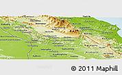 Physical Panoramic Map of Khammouane