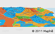 Political Panoramic Map of Khammouane