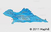 Political Shades Panoramic Map of Khammouane, cropped outside