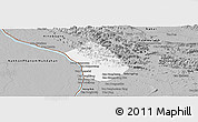 Gray Panoramic Map of Thakhek